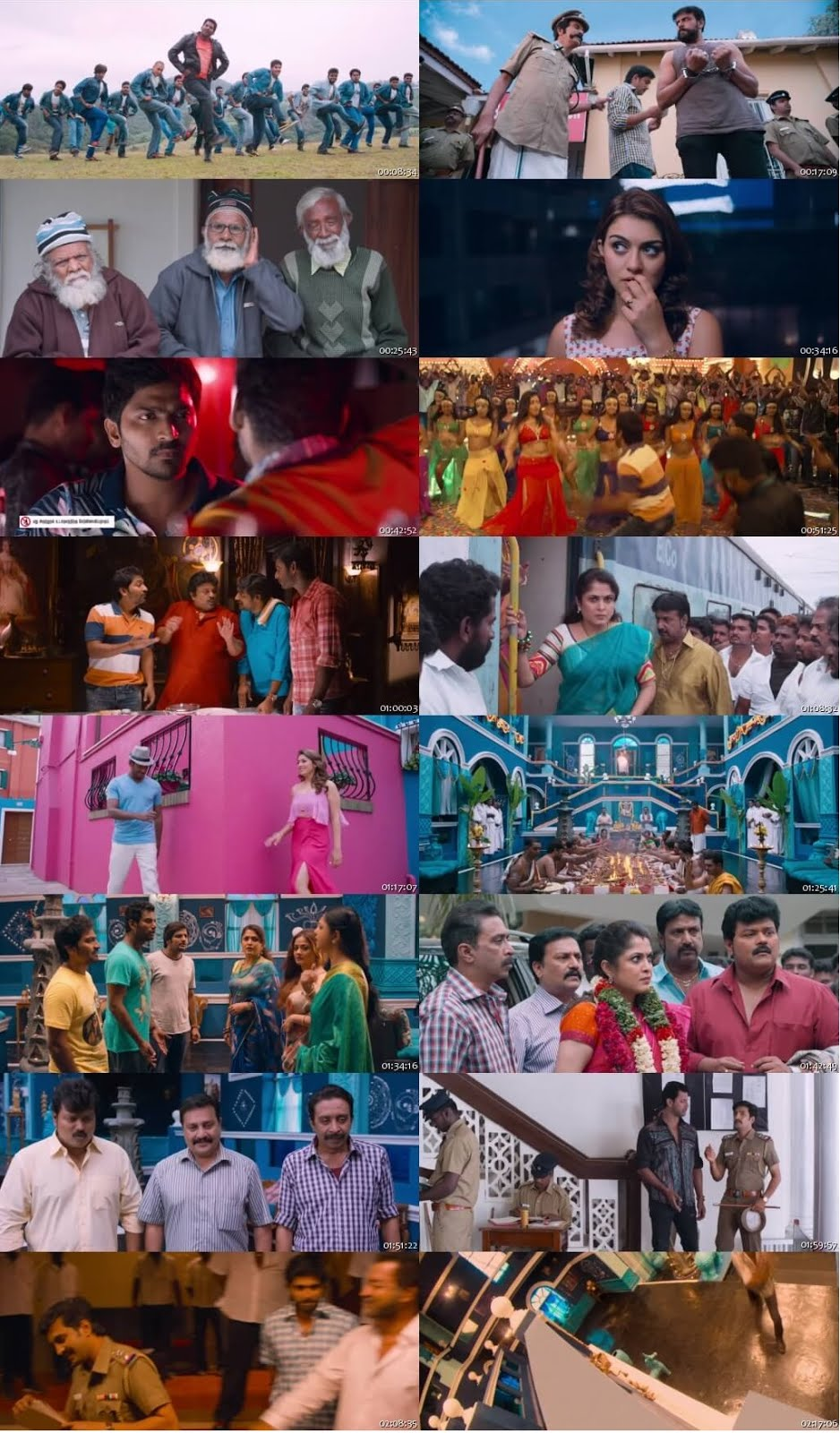 Screen Shot Of Tollywood Movie Aambala 2015 Full Movie In Hindi Dubbed Free download 720P HD