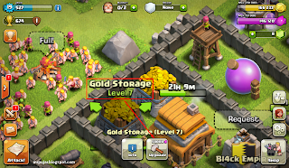 upgrade storage gold dan elixir clash of clans