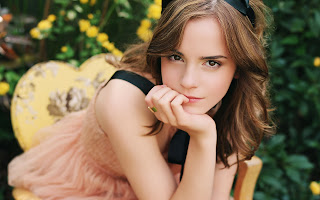 Emma Watson Beautiful Brown Eyes HD Desktop Wallpaper