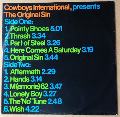Cowboys International - The Original Sin, inner sleeve