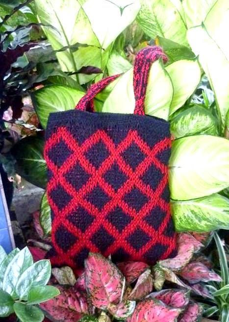 Crochetfun Fair Isle Loom Knitted Bag