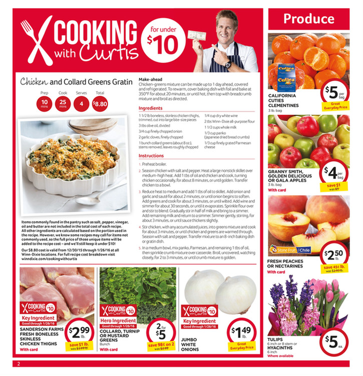 Winn Dixie Weekly Ad January 6 12 2016 Winn Dixie Weekly Ad