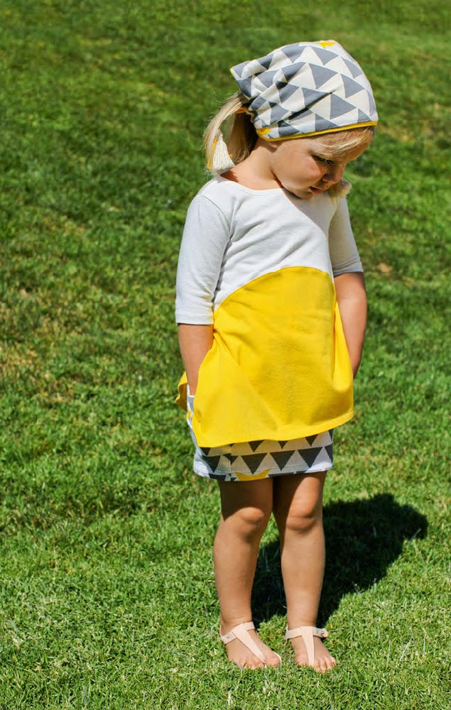 Original asymmetrical kids tunic by Omamimini for spring 2014 kidswear collection