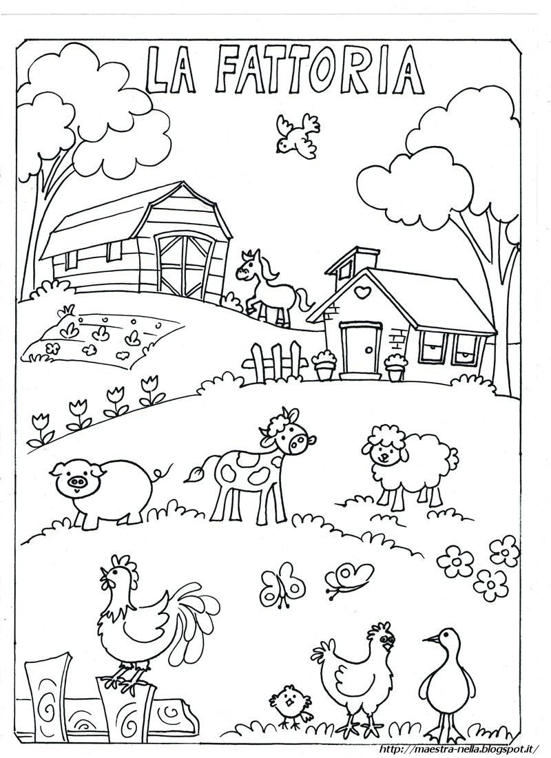 animali della fattoria disegni per bambini stampare