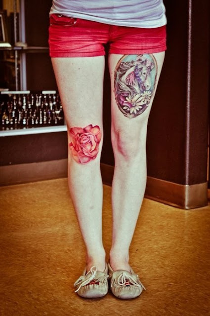 cute+thigh+knee+tattoos