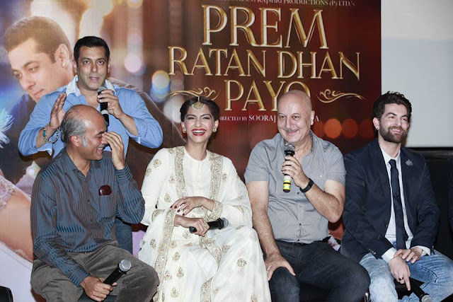 Salman & Sonam at Prem Ratan Dhan Payo trailer launch photos