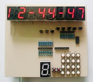 Membuat jam digital AT89S51 AT89S52 menggunakan 7 Segment