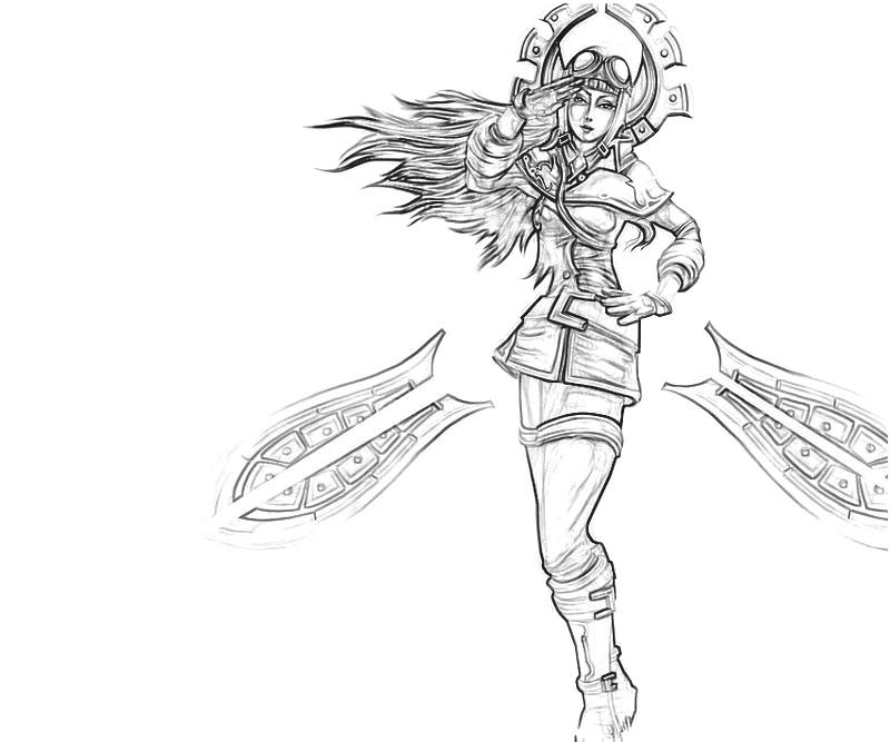 League of legends irelia yumiko fujiwara for League of legends coloring pages