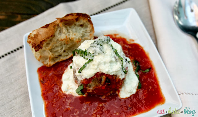 meatball ricotta marinara cheese