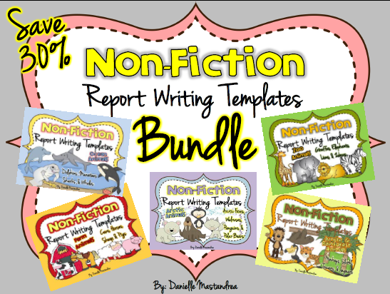 http://www.teacherspayteachers.com/Product/Animal-Reports-BUNDLE-PACK-Informational-Non-Fiction-Report-Writing-678739