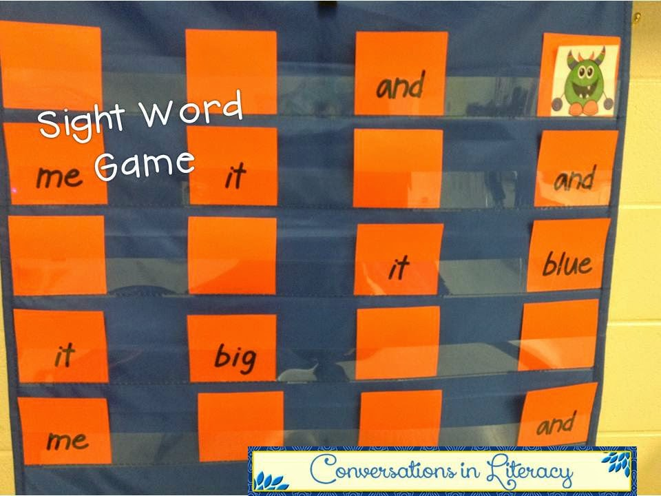 Hide the Monster Sight Word Game