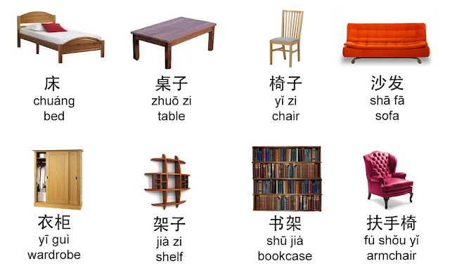 Chinese Words For Furniture Items