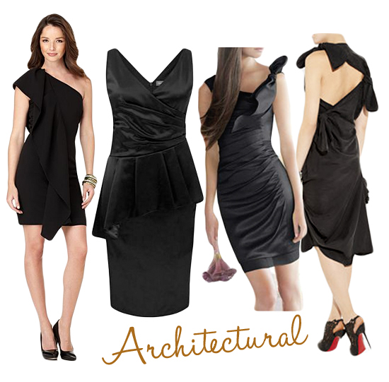 Architectural Black Bridesmaids Dresses