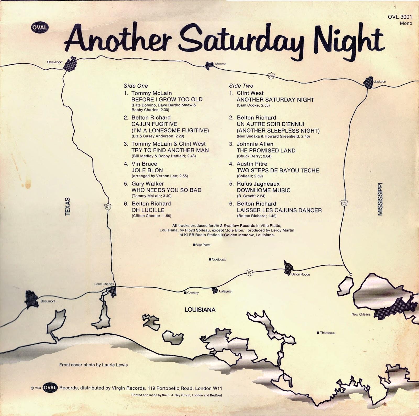 Various Saturday Night...