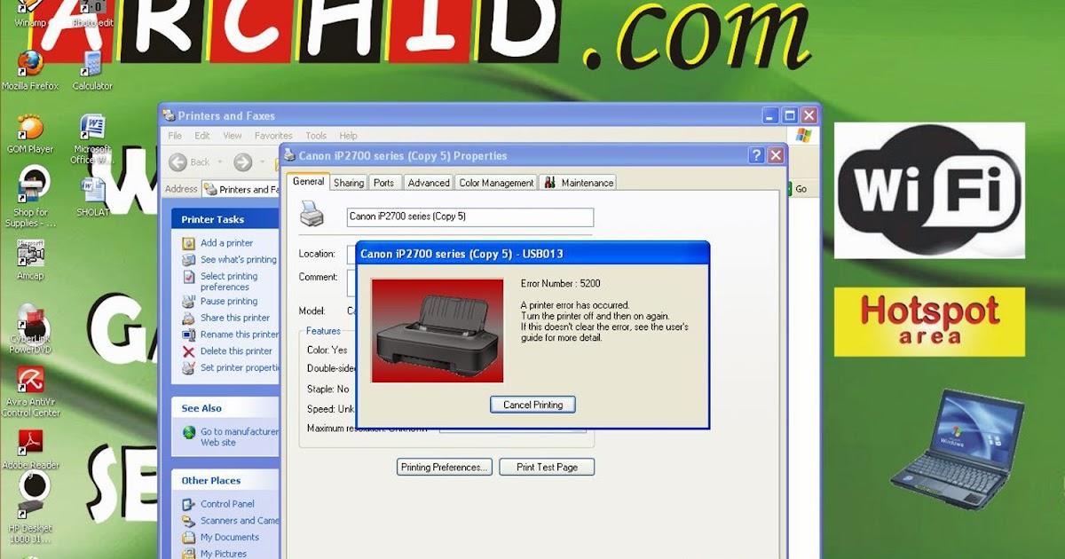 how to fix canon printer error 5200