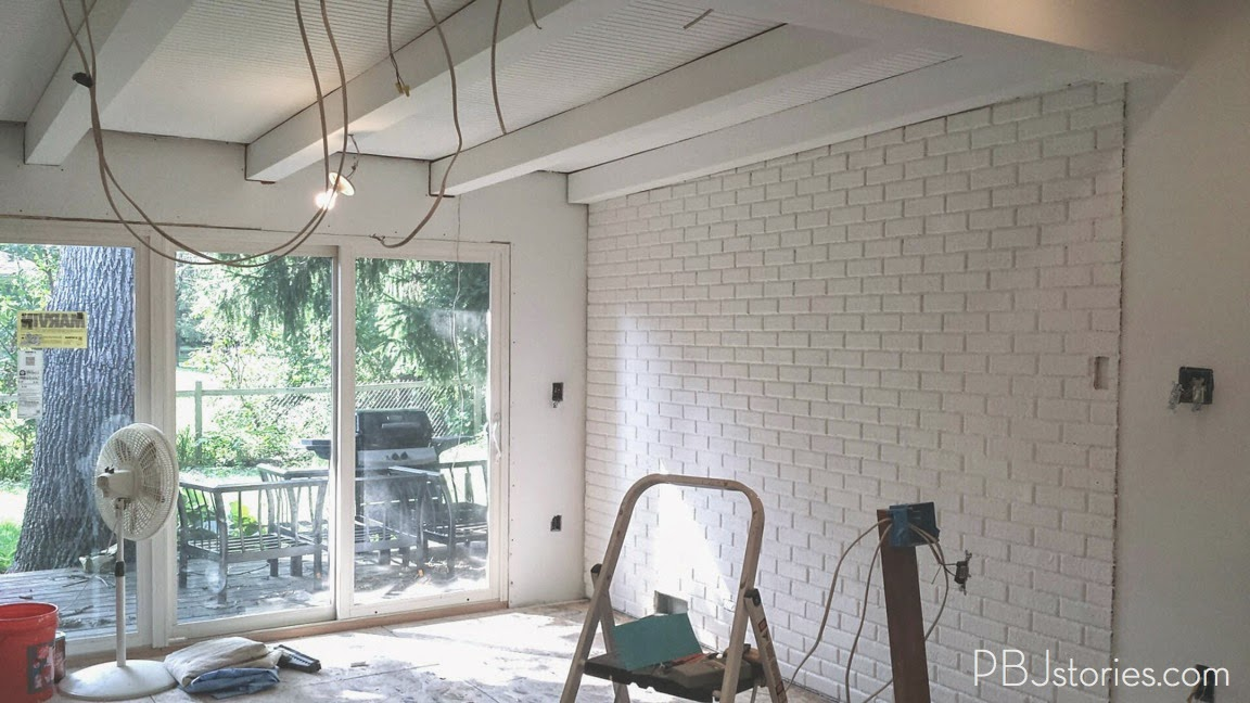 Pbjstories How To Paint An Interior Brick Wall Pbjreno
