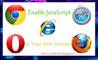 Enable javascript in browser