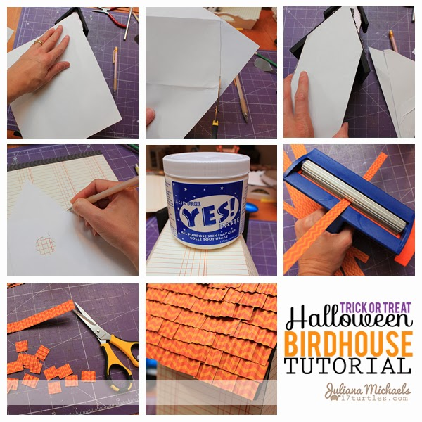 Trick or Treat Halloween Birdhouse Tutorial by Juliana Michael