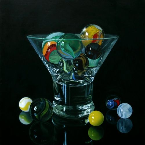 Jason de Graaf pinturas hiper-realistas luz, vidro, transparencias e reflexos