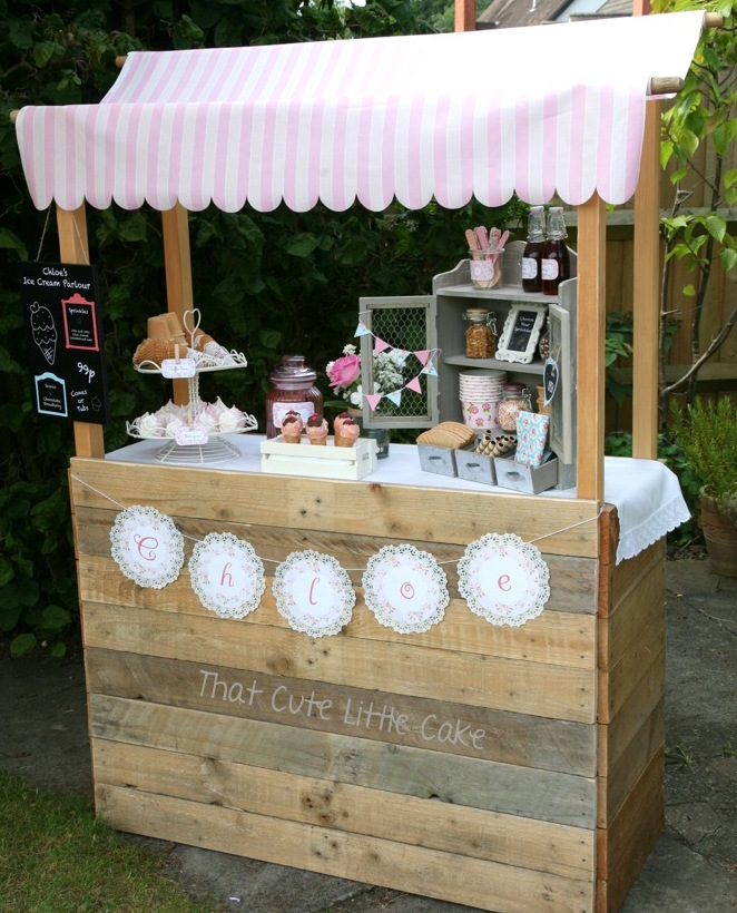 That cute little cake chloe 39 s ice cream birthday party for Rustic lemonade stand