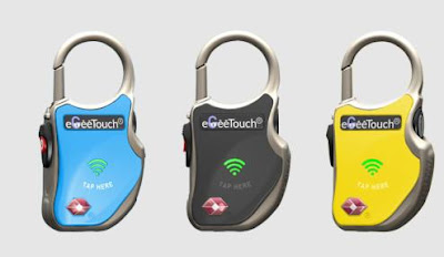 eGeeTouch smart travel padlock