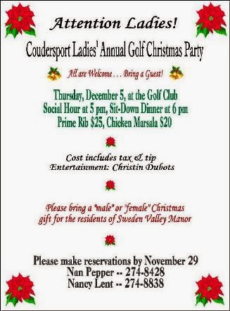 12-5 Annual Golf Christmas Party