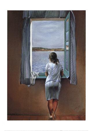 Maral xia chuva mansa for Ragazza alla finestra quadro