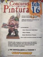 Poster anunciando el concurso de pintura de la tienda de Games Workshop de Valladolid