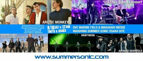 Queen + Adam Lambert en Summer Sonic 2014
