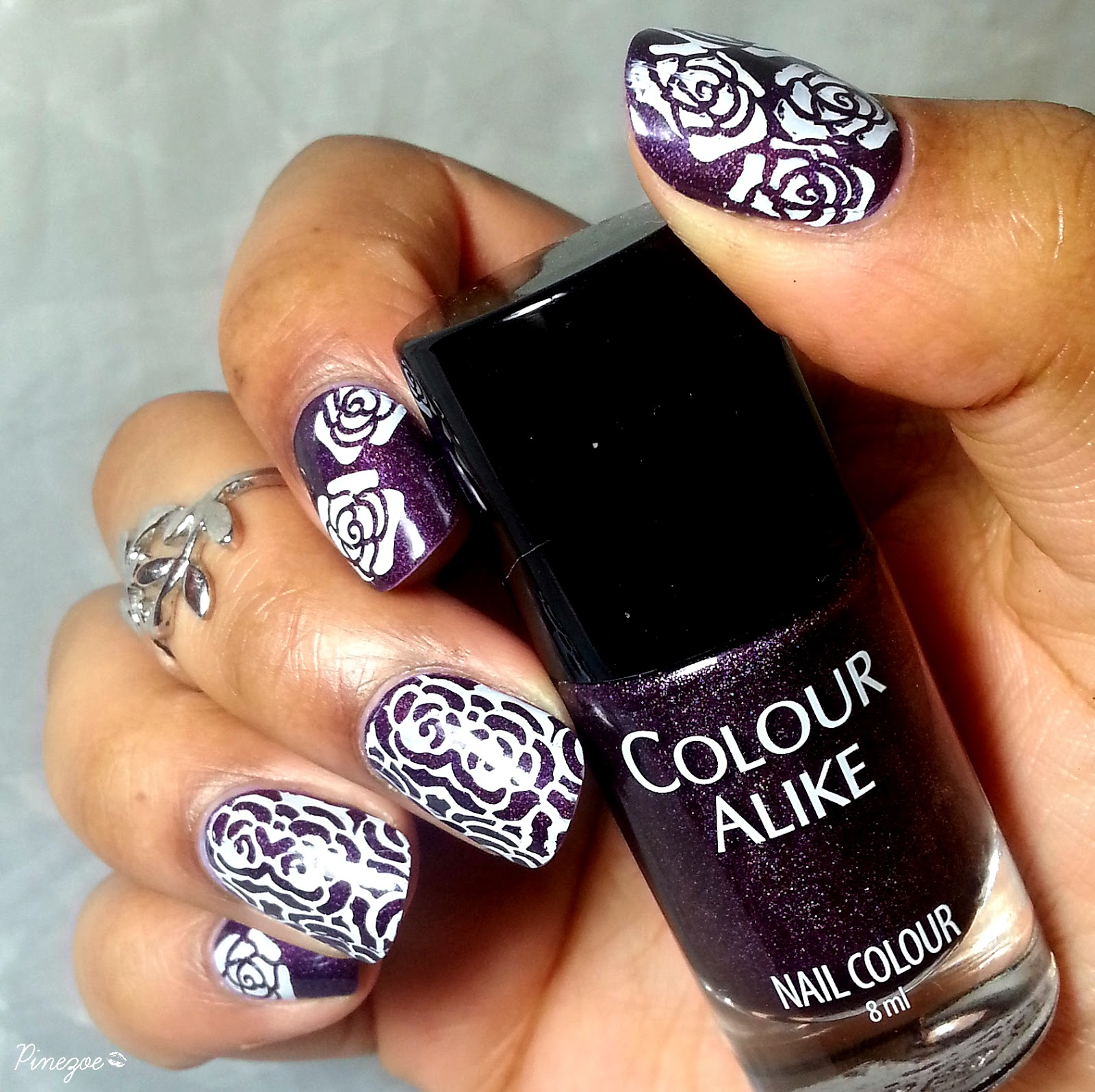 Colour Alike 502 & Stamping Roses BP 03