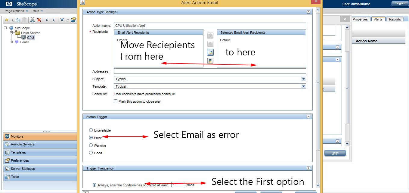 Email Alert Setup