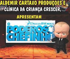 """CINEMA PARA CRIANÇAS. """"O PODEROSO CHEFINHO"""" DIA 12/OUTUBRO, ÀS 17H, NO CDL. ENTRADA GRATUITA"""