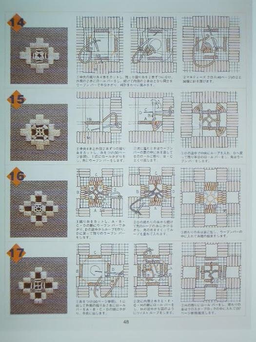 Вышивка хардангер для начинающих схемы 96