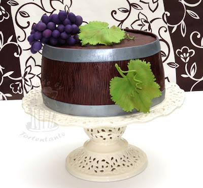 Weinfass Torte Rebe Grape Cake