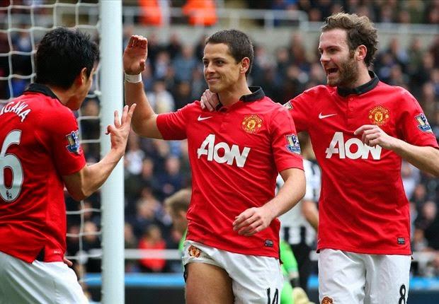 Hasil Pertandingan Newcastle United vs Manchester United 04 April 2014 - Liga Inggris