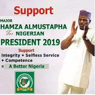 Hamza Al-mustapha's presidential campaign poster surfaces