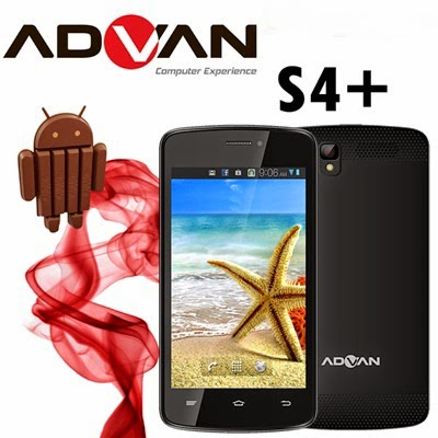 Spesifikasi dan Harga Advan Vandroid S4+ Terbaru | Smartphone Kitkat 4.4 Super Murah 700 ribuan!