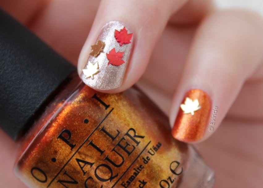 autumn leaf manicure