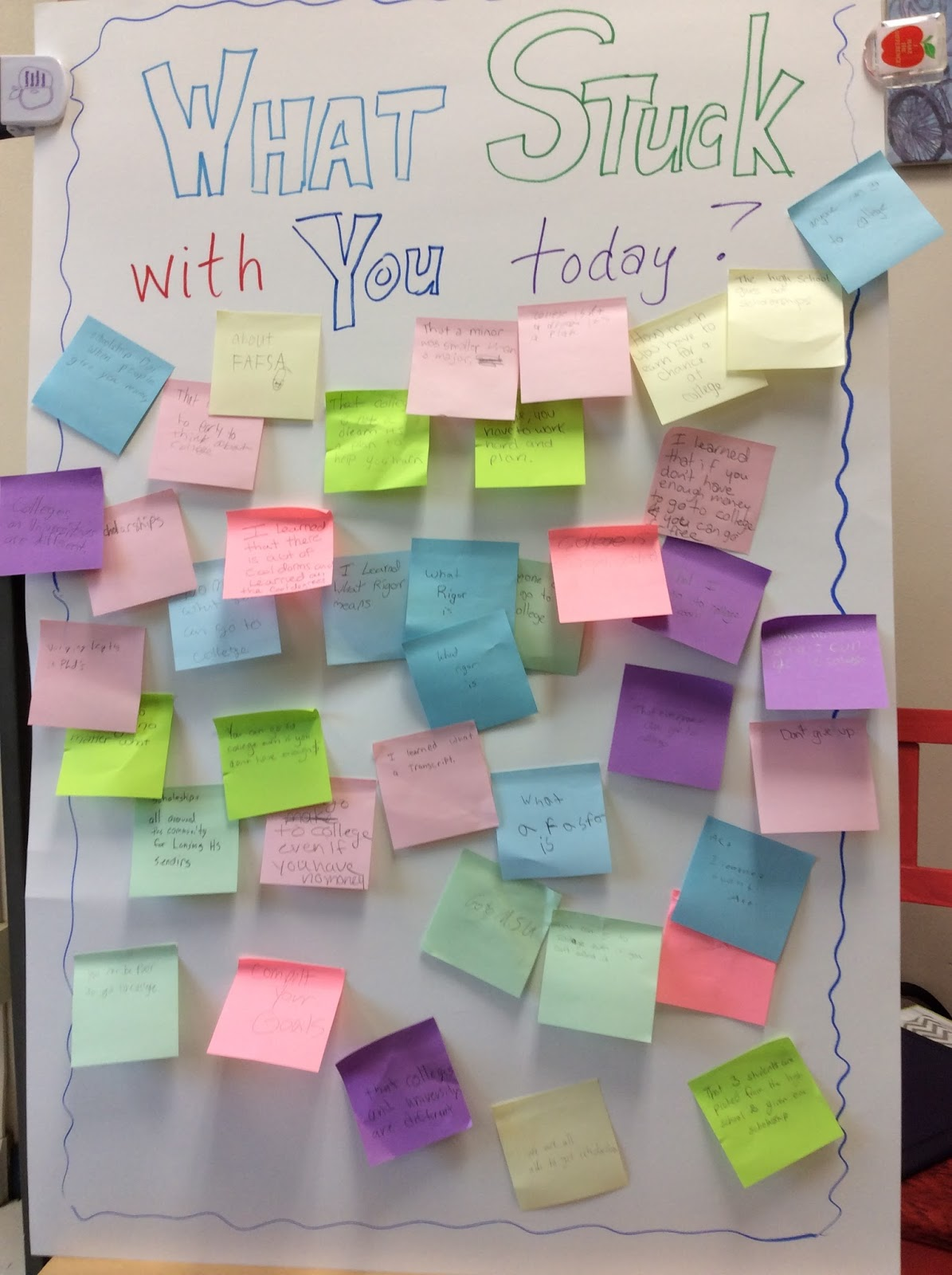 Classroom Games Ideas For College Students : How post it notes can change school climate the middle