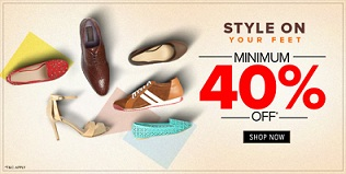 Men's / Women's Footwear: Min 40% Off on Allen Solly, Louis Phillip, Van Heusen @ Trendin