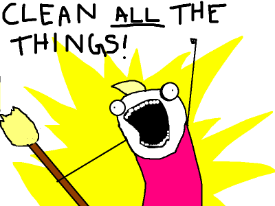Clean ALL the Things by Allie Brosh