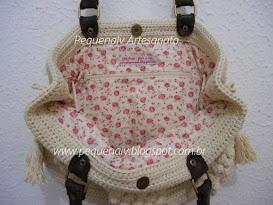Bolsa Jolie Cru - Estampa mini rosas