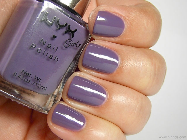 NYX Girls Nail Polish in Fierce Purple