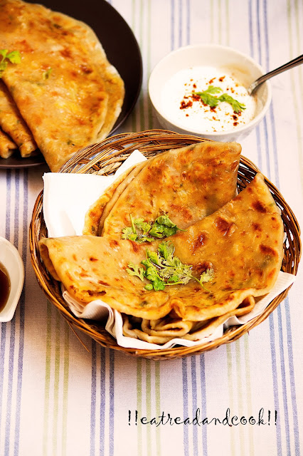 how to make potato and cauliflower stuffed paratha