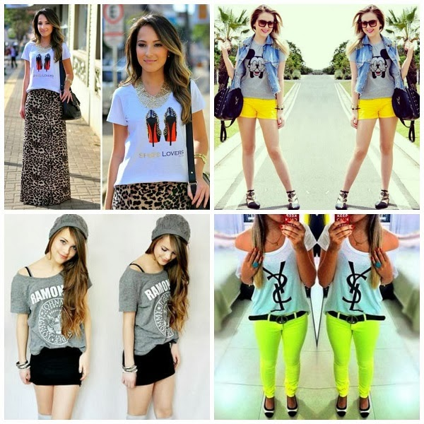 t-shirts descoladas e divertidas