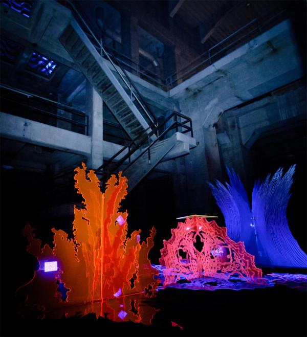Instalación artistica  y luz