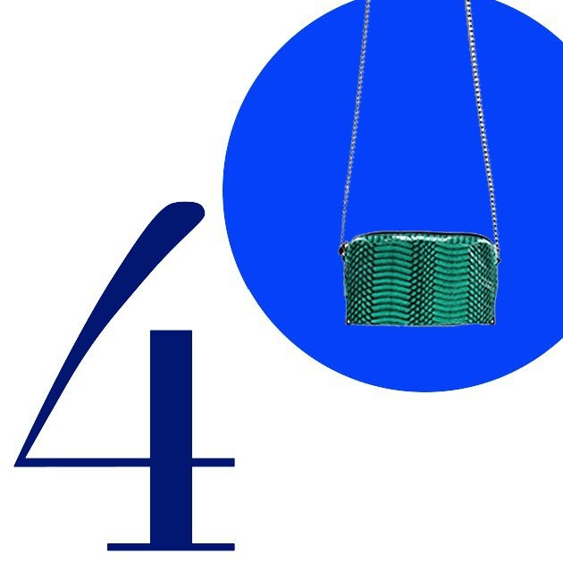 Top 5 Crossbody Bags For Summer 2013: Electric mint water snake pouchette