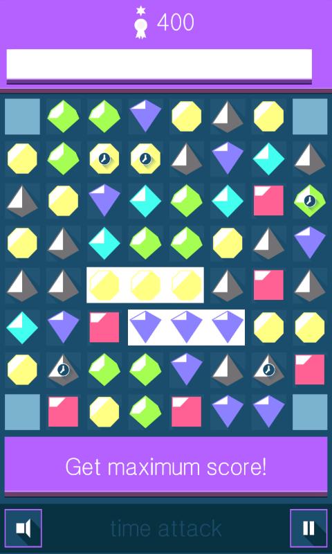 Flat Jewels Match 3 - gameplay