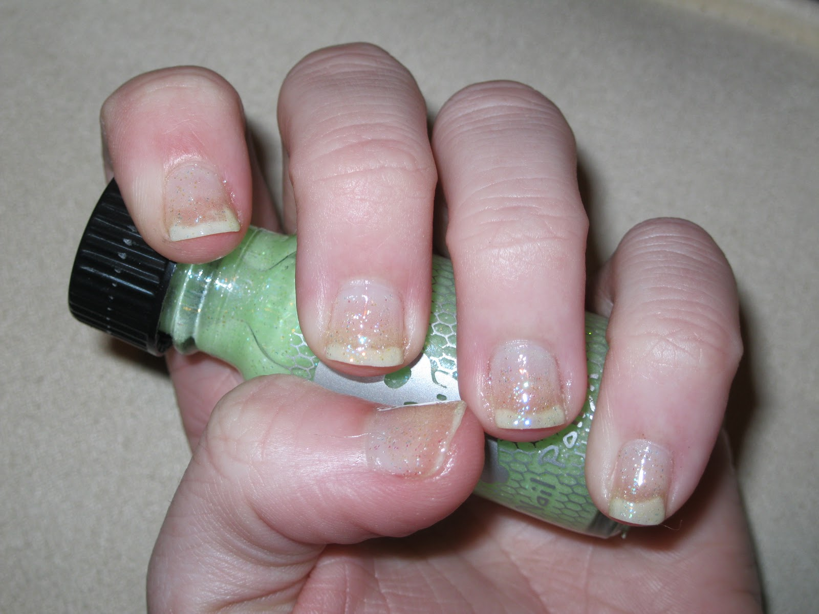 Trinity Designs: Nail Swatch: Green Glow in the Dark by Hot Topic (17)