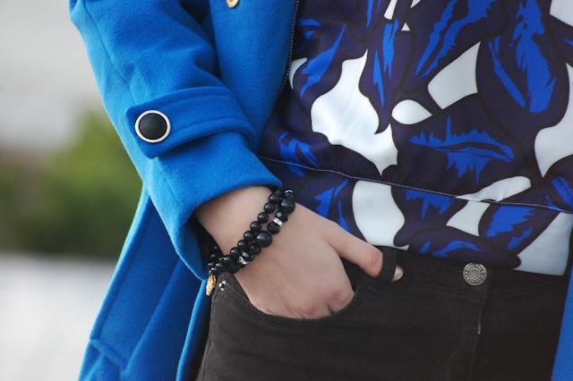 Niebiesko-czarna stylizacja | blue coat